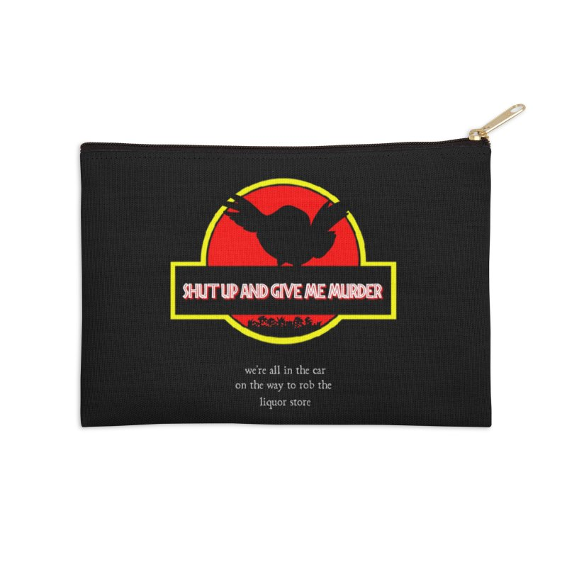 Jurassic Pocket Robin Accessories Zip Pouch by True Crime Comedy Team Shop