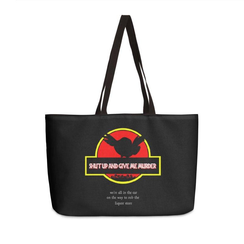 Jurassic Pocket Robin Accessories Weekender Bag Bag by True Crime Comedy Team Shop