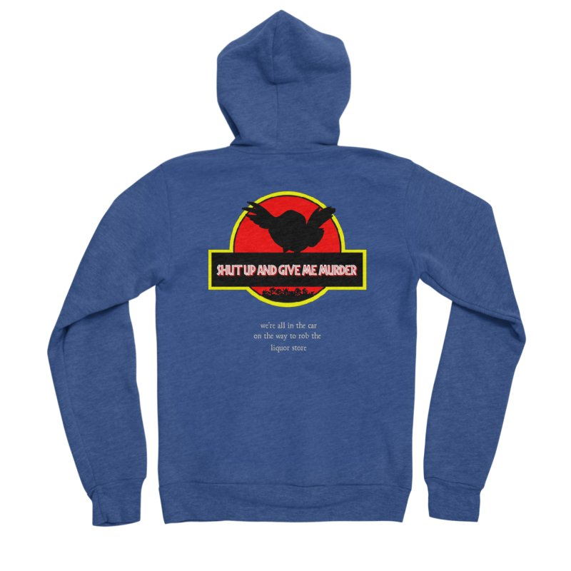 Jurassic Pocket Robin Men's Sponge Fleece Zip-Up Hoody by True Crime Comedy Team Shop