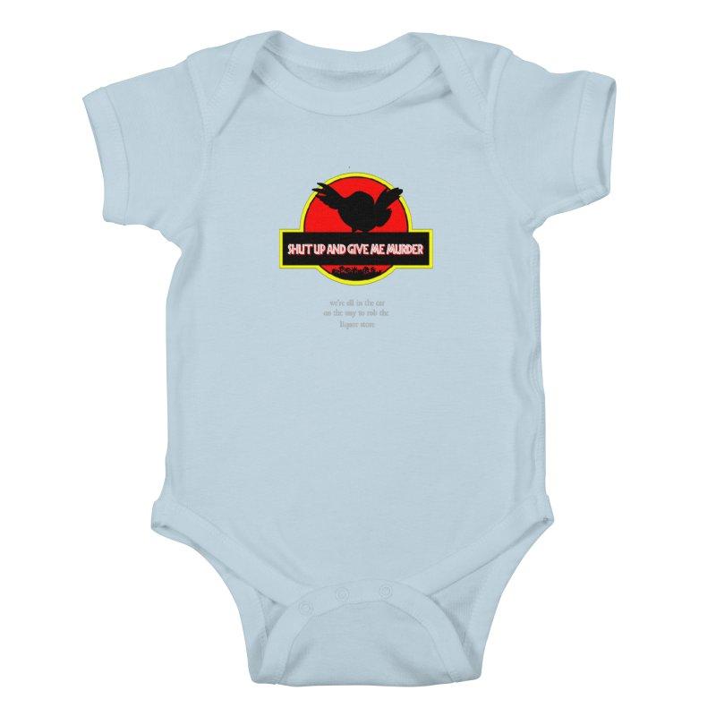 Jurassic Pocket Robin Kids Baby Bodysuit by True Crime Comedy Team Shop