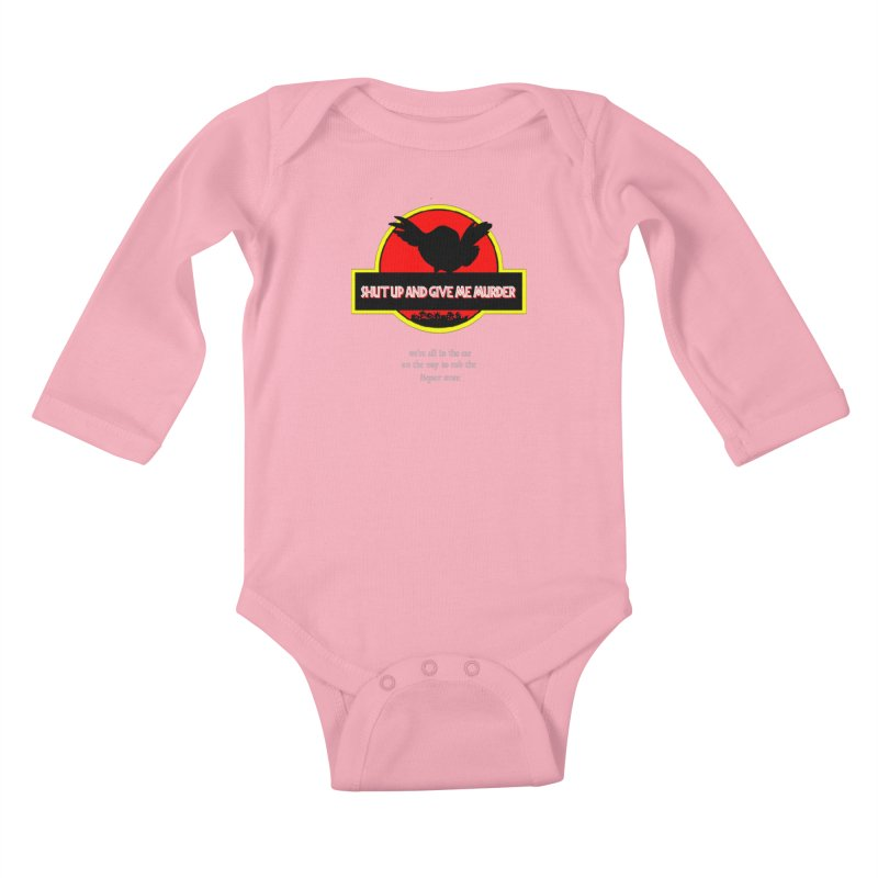 Jurassic Pocket Robin Kids Baby Longsleeve Bodysuit by True Crime Comedy Team Shop