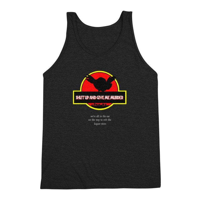 Jurassic Pocket Robin Men's Triblend Tank by True Crime Comedy Team Shop