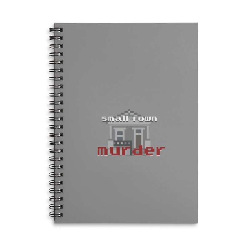 Small Town Murder 8bit Accessories Lined Spiral Notebook by True Crime Comedy Team Shop