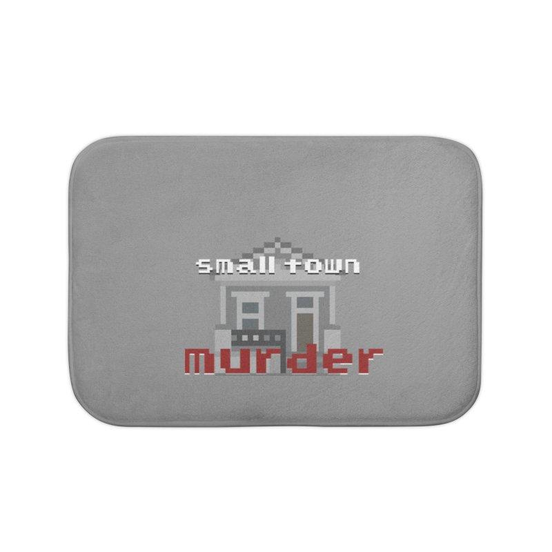 Small Town Murder 8bit Home Bath Mat by True Crime Comedy Team Shop