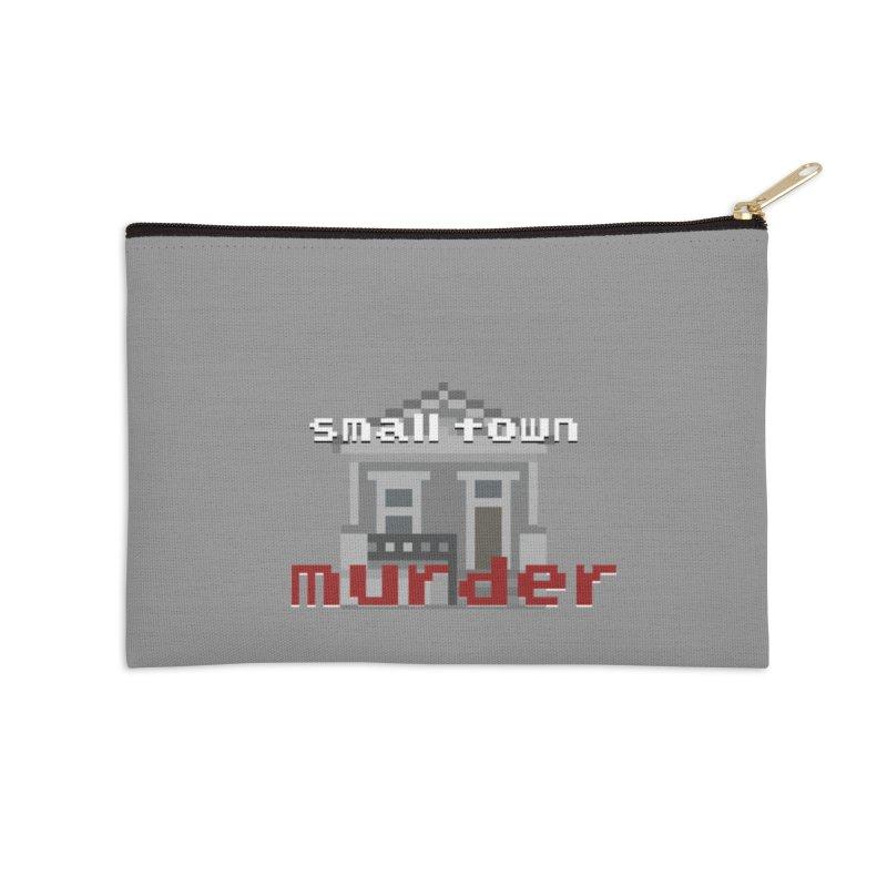 Small Town Murder 8bit Accessories Zip Pouch by True Crime Comedy Team Shop