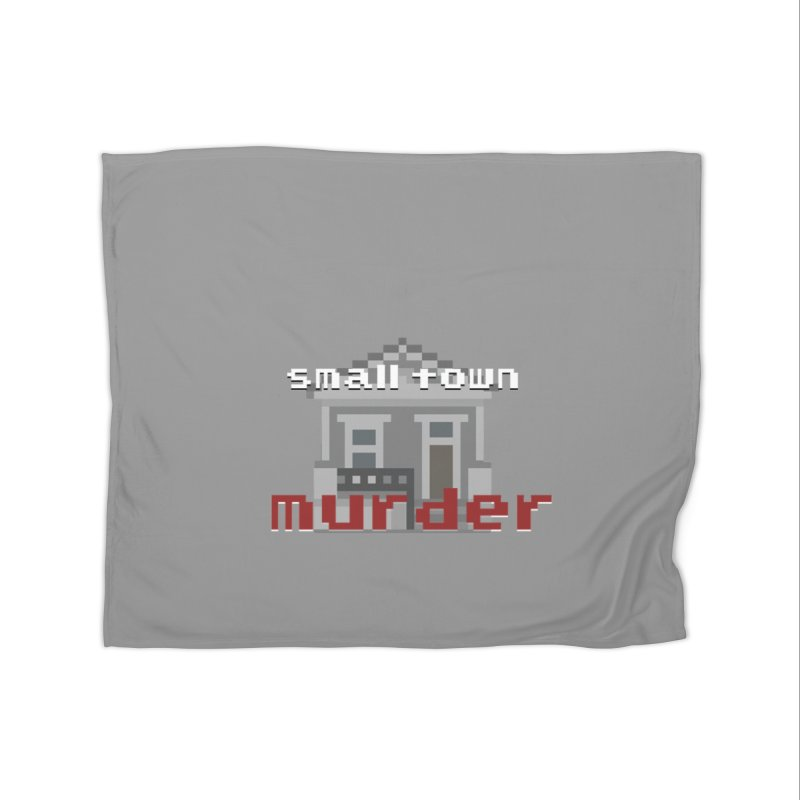 Small Town Murder 8bit Home Fleece Blanket Blanket by True Crime Comedy Team Shop