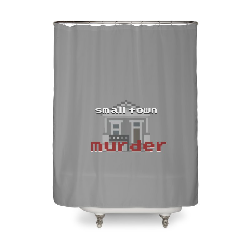Small Town Murder 8bit Home Shower Curtain by True Crime Comedy Team Shop