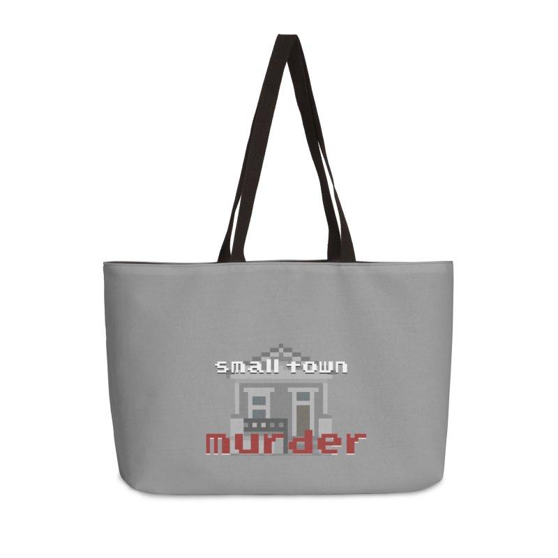 Small Town Murder 8bit Accessories Weekender Bag Bag by True Crime Comedy Team Shop
