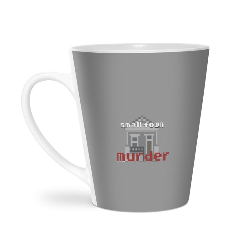 Small Town Murder 8bit Accessories Latte Mug by True Crime Comedy Team Shop