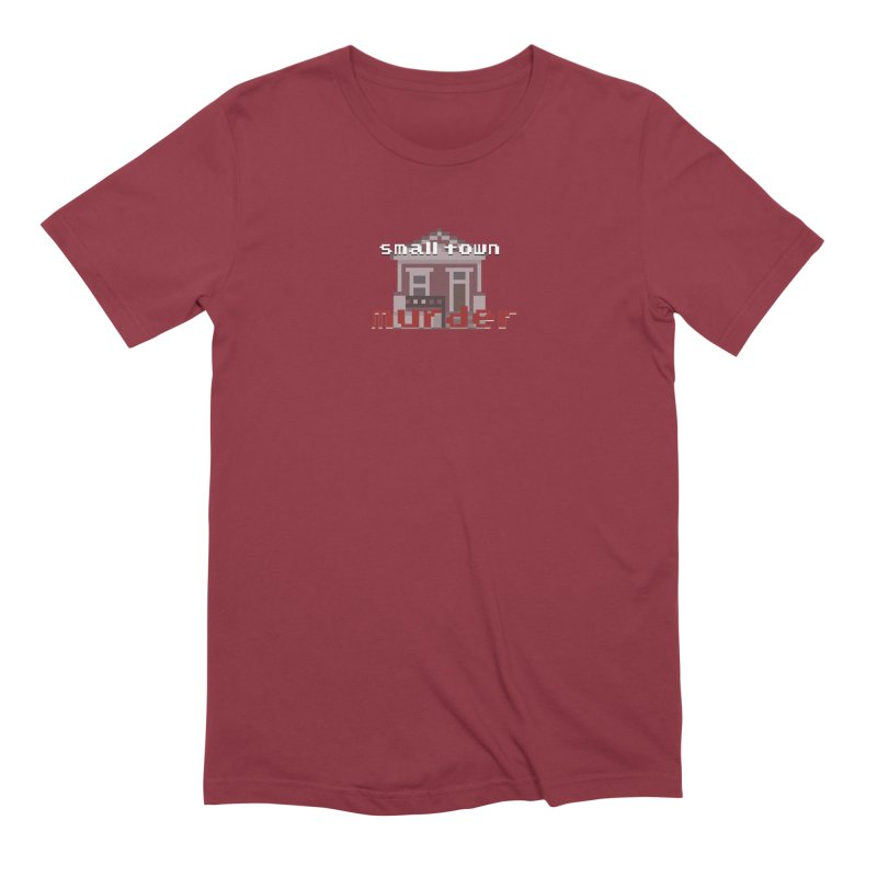Small Town Murder 8bit Men's Extra Soft T-Shirt by True Crime Comedy Team Shop