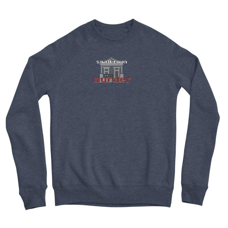 Small Town Murder 8bit Men's Sponge Fleece Sweatshirt by True Crime Comedy Team Shop