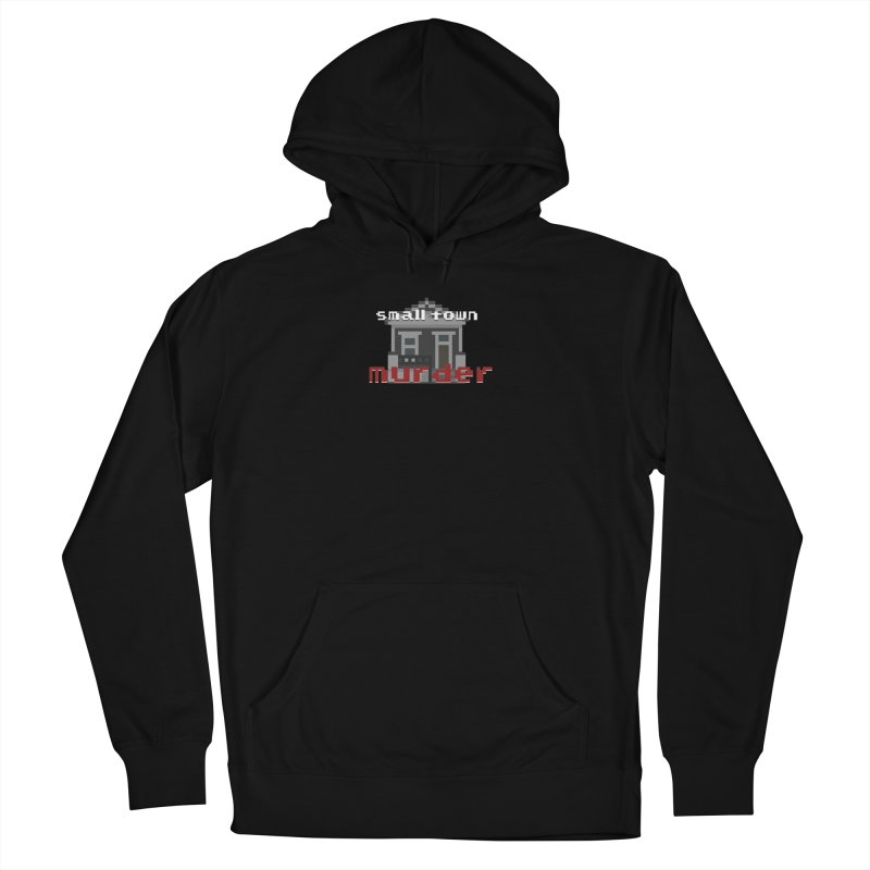 Small Town Murder 8bit Men's French Terry Pullover Hoody by True Crime Comedy Team Shop