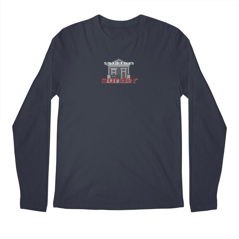 Small Town Murder 8bit Men's Regular Longsleeve T-Shirt by True Crime Comedy Team Shop