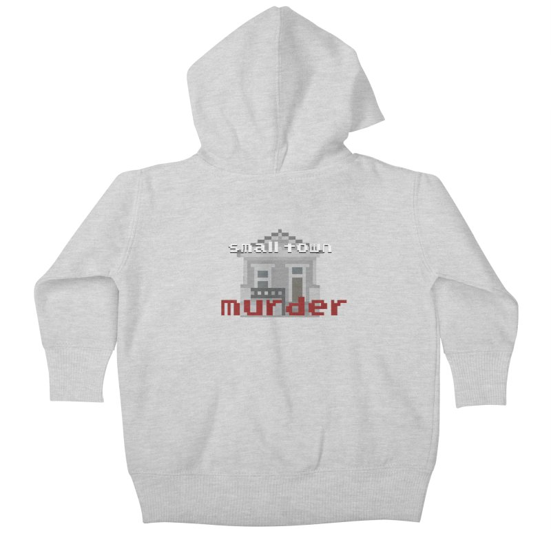 Small Town Murder 8bit Kids Baby Zip-Up Hoody by True Crime Comedy Team Shop