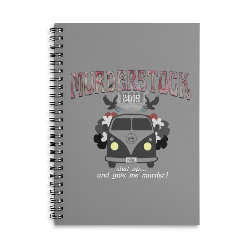 Murderstock Accessories Lined Spiral Notebook by True Crime Comedy Team Shop