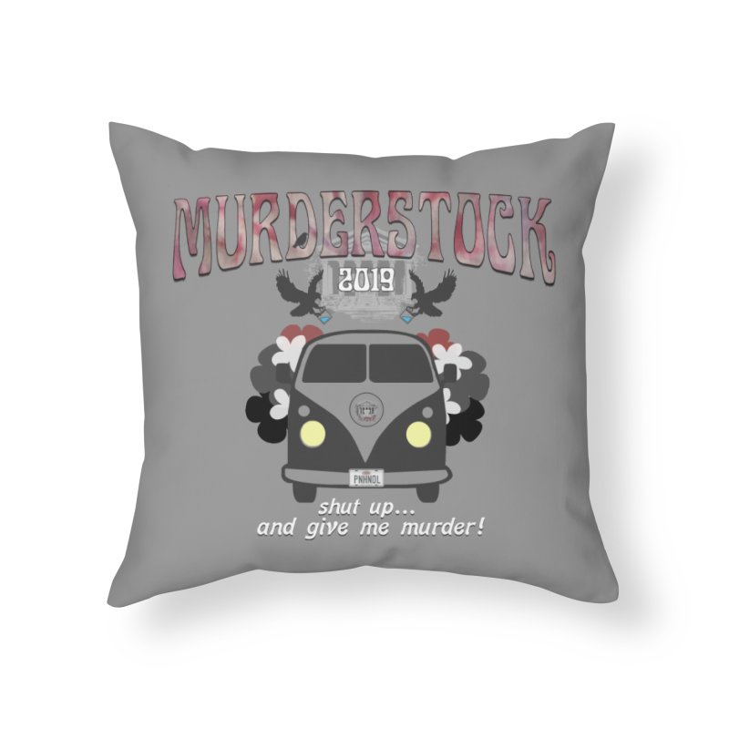 Murderstock Home Throw Pillow by True Crime Comedy Team Shop