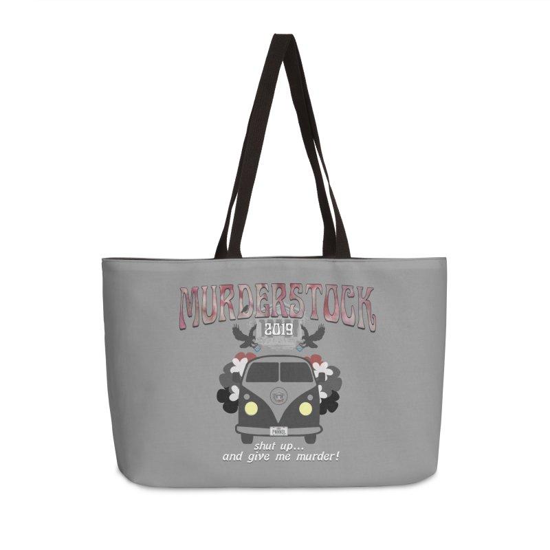 Murderstock Accessories Weekender Bag Bag by True Crime Comedy Team Shop
