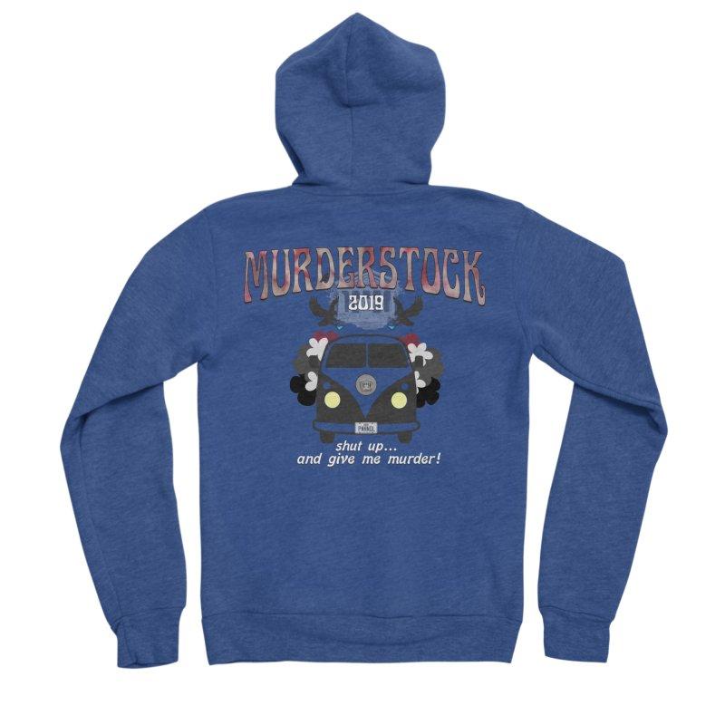Murderstock Women's Sponge Fleece Zip-Up Hoody by True Crime Comedy Team Shop