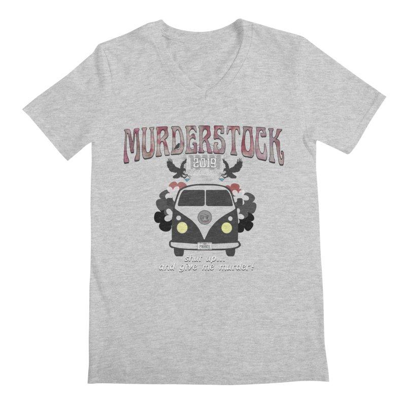 Murderstock Men's Regular V-Neck by True Crime Comedy Team Shop