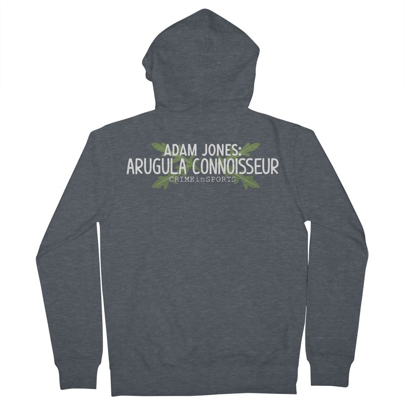 Arugula Connoisseur Women's French Terry Zip-Up Hoody by True Crime Comedy Team Shop