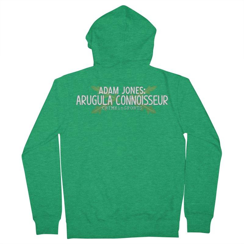 Arugula Connoisseur Men's French Terry Zip-Up Hoody by True Crime Comedy Team Shop