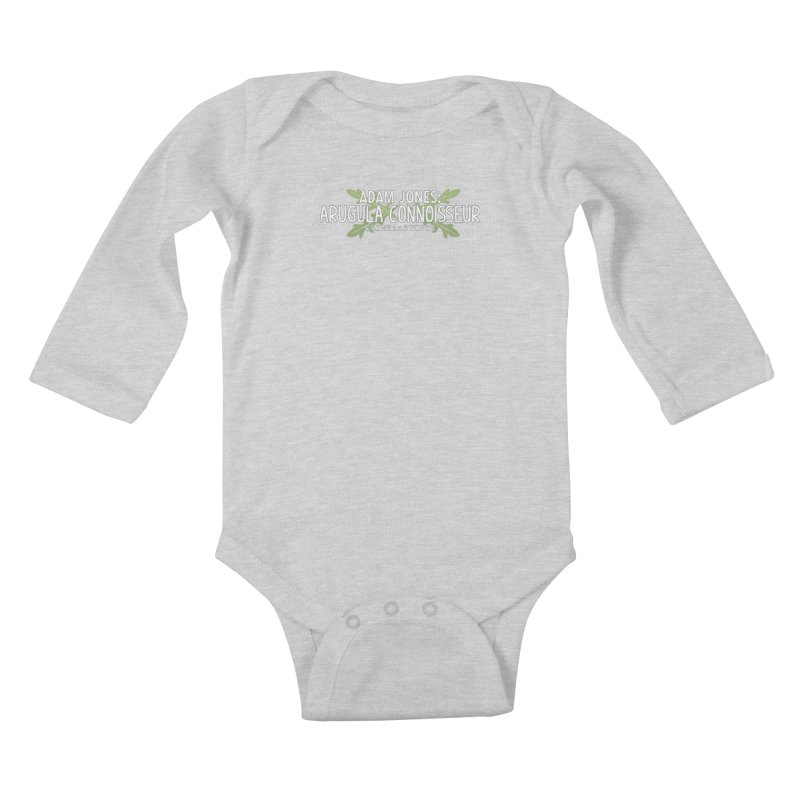 Arugula Connoisseur Kids Baby Longsleeve Bodysuit by True Crime Comedy Team Shop
