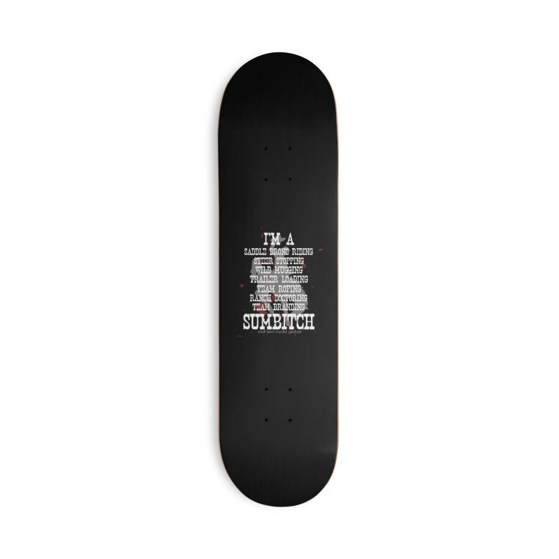 Winnemucca Ranch Hand Rodeo Accessories Deck Only Skateboard by True Crime Comedy Team Shop