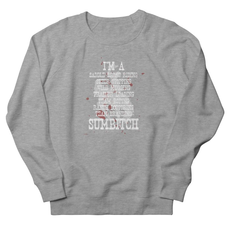 Winnemucca Ranch Hand Rodeo Men's French Terry Sweatshirt by True Crime Comedy Team Shop