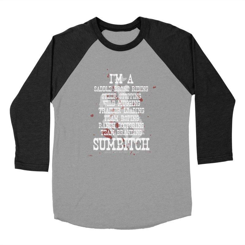 Winnemucca Ranch Hand Rodeo Men's Baseball Triblend Longsleeve T-Shirt by True Crime Comedy Team Shop