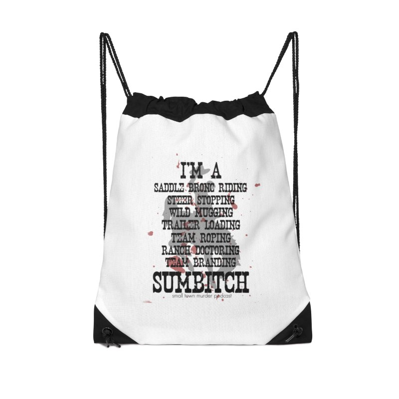 Winnemucca Ranch Hand Rodeo Accessories Drawstring Bag Bag by True Crime Comedy Team Shop