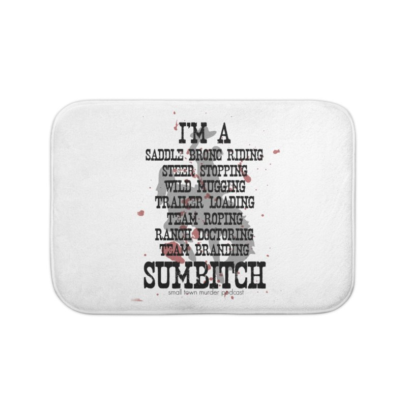 Winnemucca Ranch Hand Rodeo Home Bath Mat by True Crime Comedy Team Shop