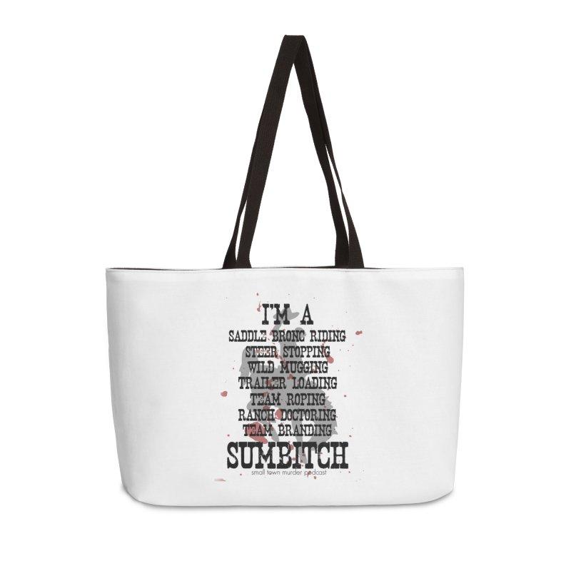 Winnemucca Ranch Hand Rodeo Accessories Weekender Bag Bag by True Crime Comedy Team Shop