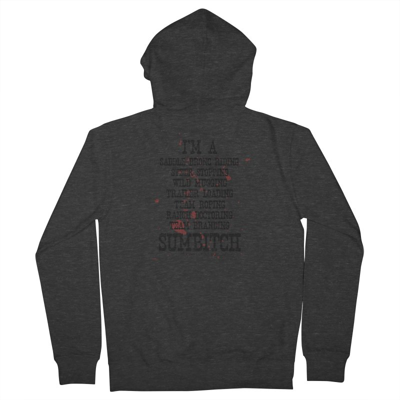 Winnemucca Ranch Hand Rodeo Men's French Terry Zip-Up Hoody by True Crime Comedy Team Shop
