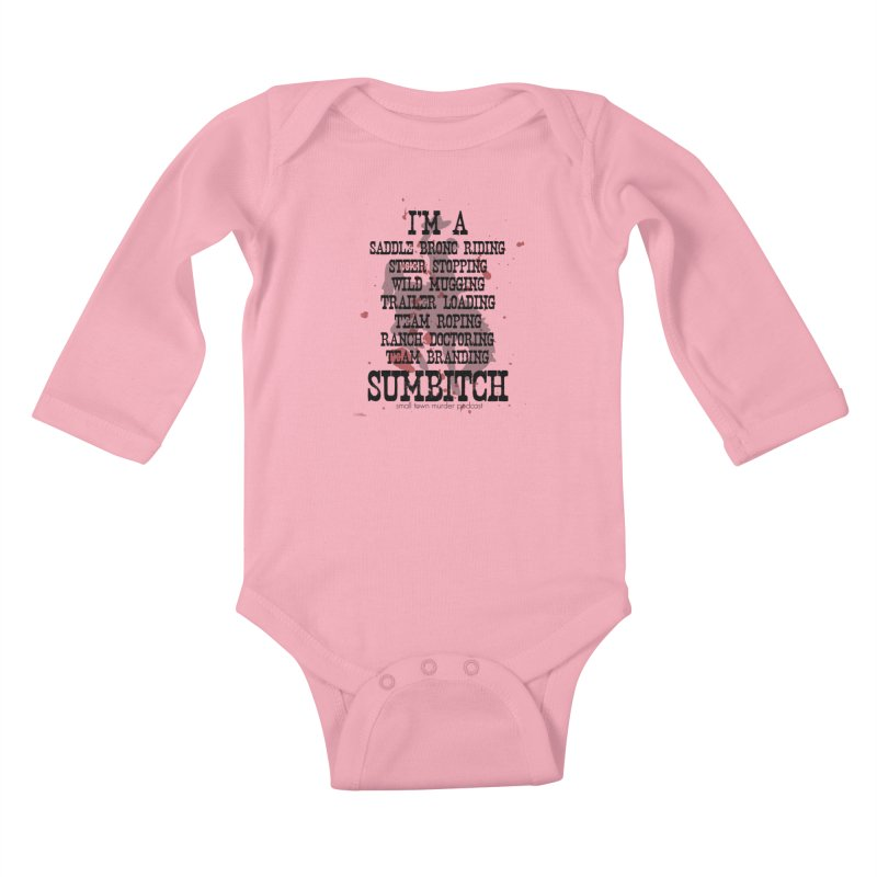 Winnemucca Ranch Hand Rodeo Kids Baby Longsleeve Bodysuit by True Crime Comedy Team Shop