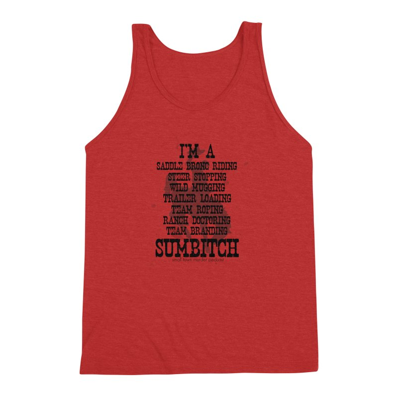 Winnemucca Ranch Hand Rodeo Men's Triblend Tank by True Crime Comedy Team Shop