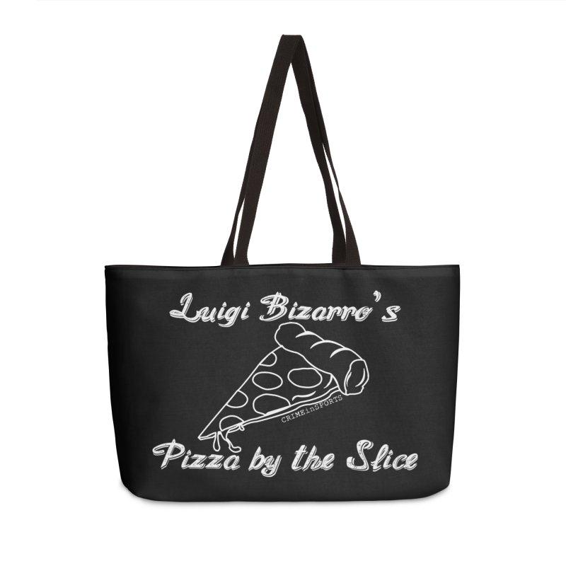 Luigi Bizarro's Pizza by the Slice Accessories Weekender Bag Bag by True Crime Comedy Team Shop