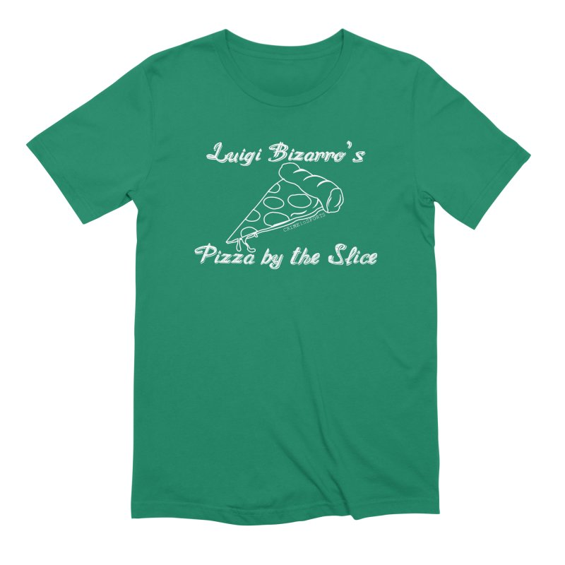 Luigi Bizarro's Pizza by the Slice Men's Extra Soft T-Shirt by True Crime Comedy Team Shop