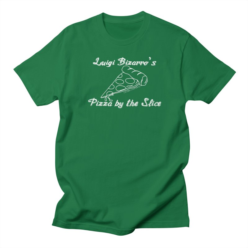 Luigi Bizarro's Pizza by the Slice Women's Regular Unisex T-Shirt by True Crime Comedy Team Shop