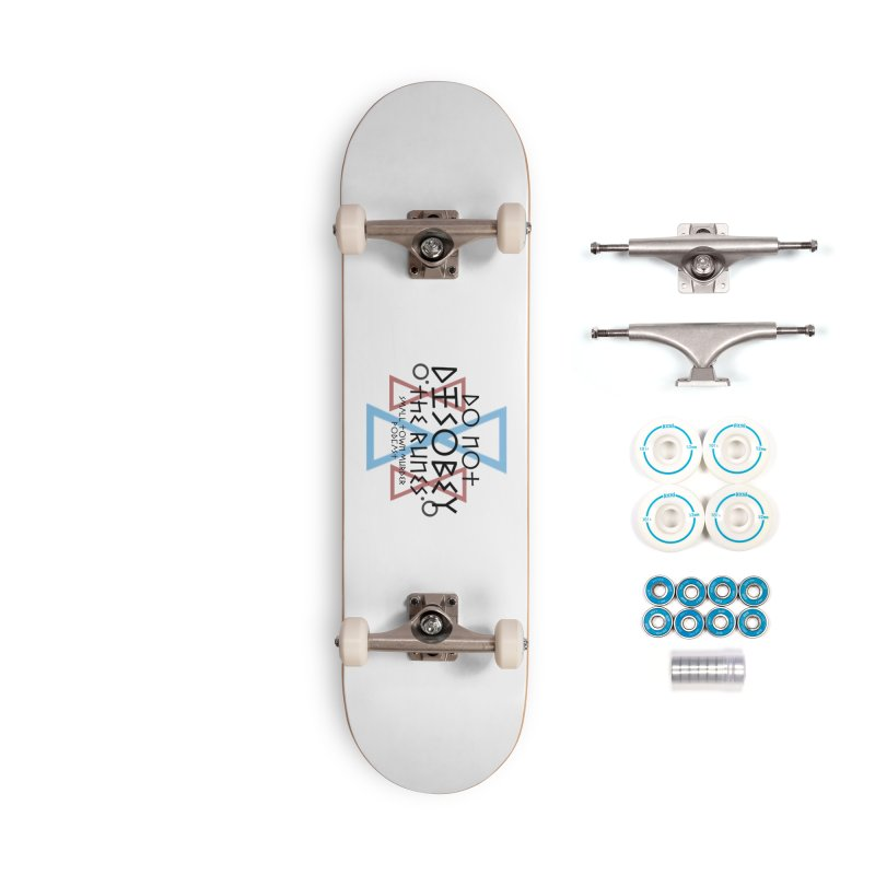 Do Not Disobey the Runes Accessories Complete - Basic Skateboard by True Crime Comedy Team Shop