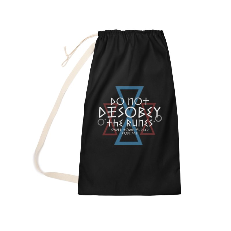 Do Not Disobey the Runes (in white) Accessories Laundry Bag Bag by Shut Up and Give Me Murder!