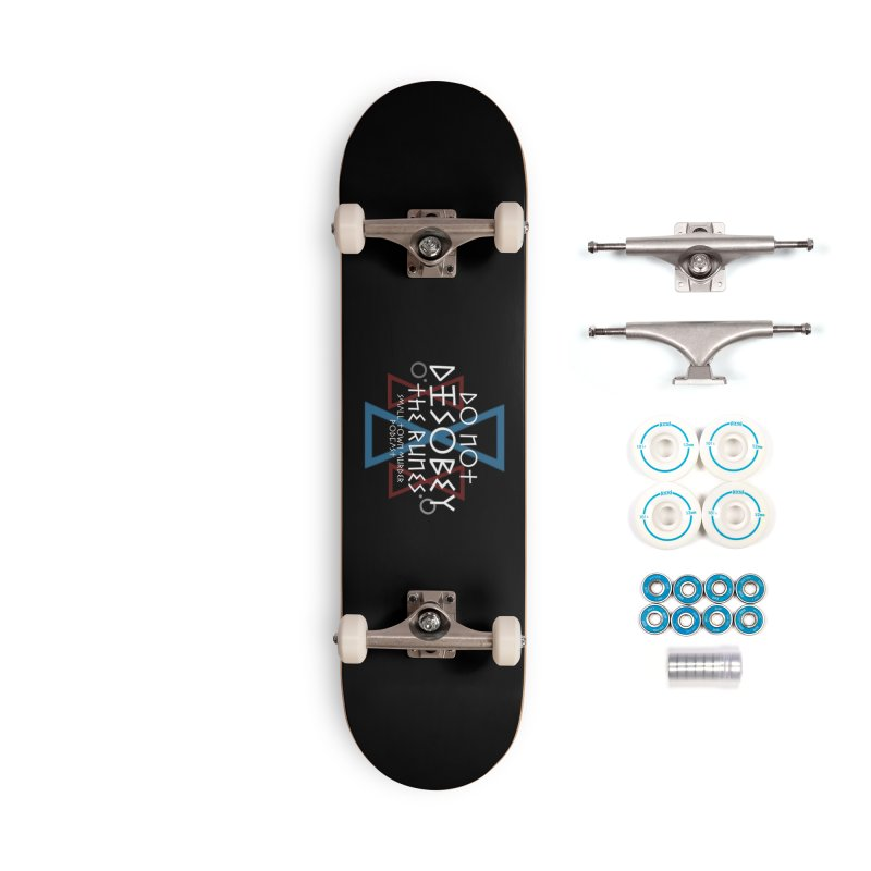 Do Not Disobey the Runes (in white) Accessories Complete - Basic Skateboard by True Crime Comedy Team Shop