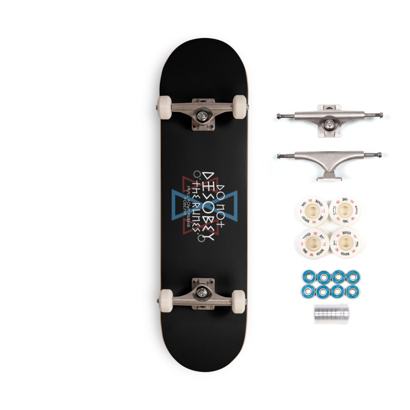 Do Not Disobey the Runes (in white) Accessories Complete - Premium Skateboard by True Crime Comedy Team Shop