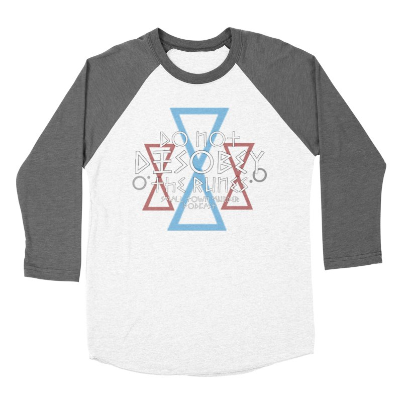 Do Not Disobey the Runes (in white) Men's Baseball Triblend Longsleeve T-Shirt by True Crime Comedy Team Shop