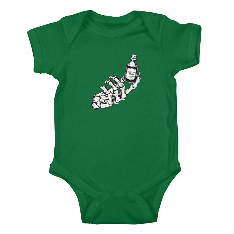Cheer up, bitch! Kids Baby Bodysuit by Shut Up and Give Me Murder!