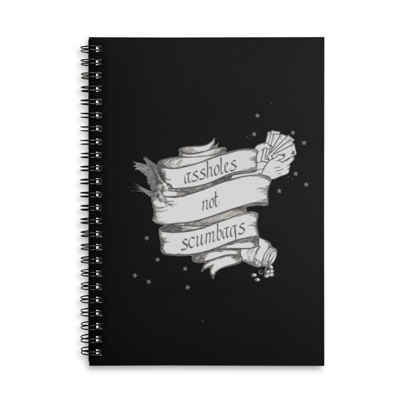 Assholes, Not Scumbags Accessories Lined Spiral Notebook by Shut Up and Give Me Murder!