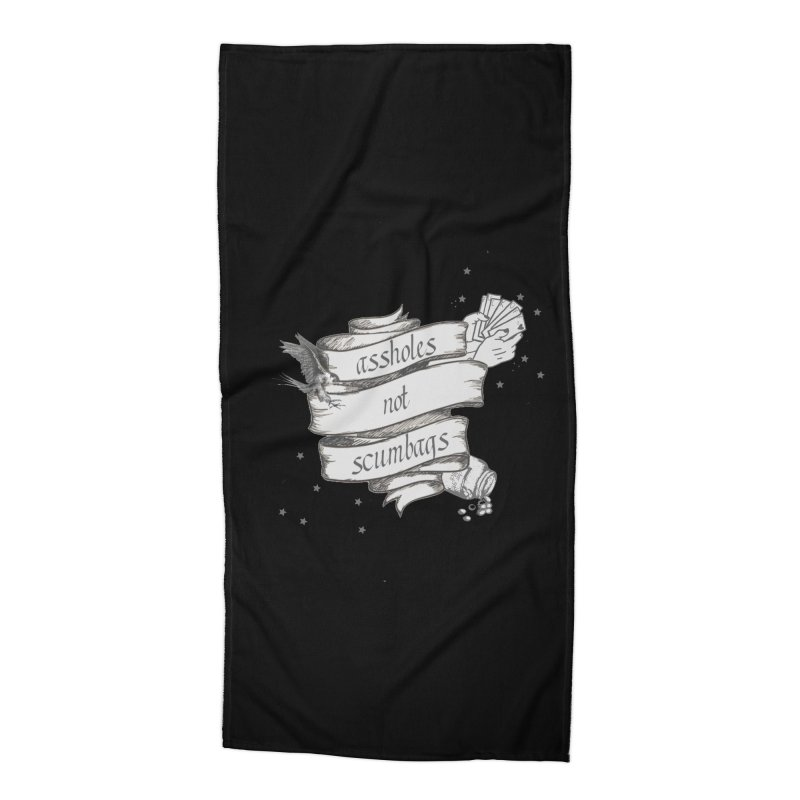 Assholes, Not Scumbags Accessories Beach Towel by Shut Up and Give Me Murder!