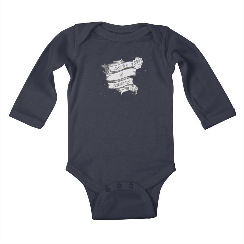 Assholes, Not Scumbags Kids Baby Longsleeve Bodysuit by Shut Up and Give Me Murder!