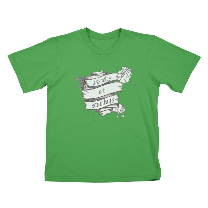 Assholes, Not Scumbags Kids T-Shirt by Shut Up and Give Me Murder!