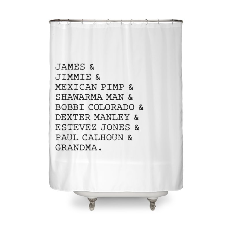 The Gang Home Shower Curtain by True Crime Comedy Team Shop