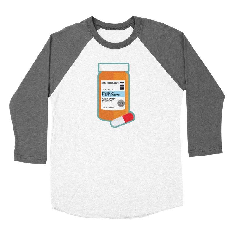 Cheer Up, Bitch! Men's Baseball Triblend Longsleeve T-Shirt by True Crime Comedy Team Shop